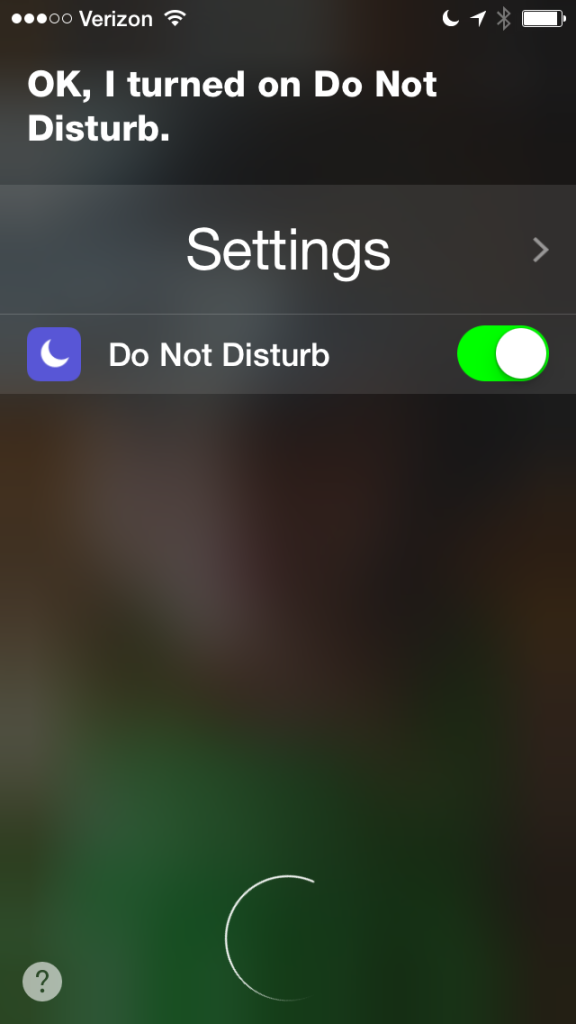 Siri Do Not Disturb