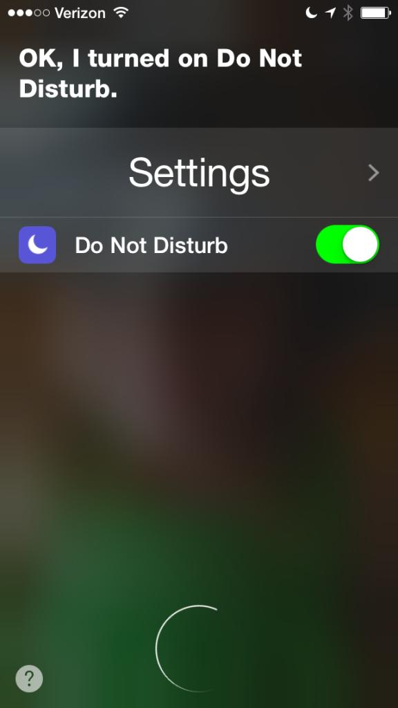 Siri Do Not Disturb